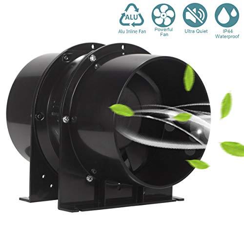 Extracteur d'air de Ventilation, HG POWER Ventilateur de Conduit d'échappement en Acier Inoxydable pour Bureau, Salle de Bain,...