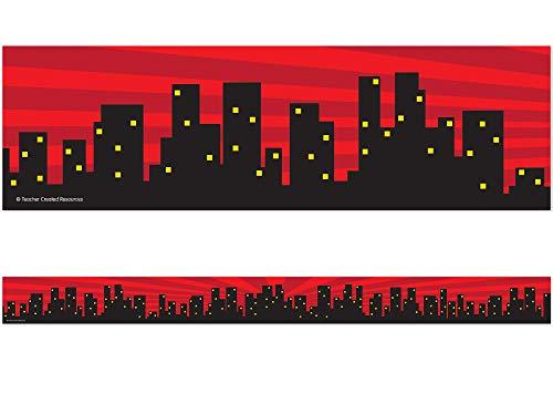 Teacher Created Resources Superhero Cityscape Straight Border Trim (5831)