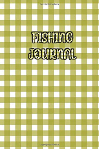 FISHING JOURNAL: Elegant / Beautiful Green Pattern Cover- Fisherman Notebook To Track Record Fishing Trip Experiences (Duration Weather Location GPS ... Bait/Lure, Weight Length and Other Notes)