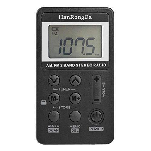 AM/FM-Radio, Digital Display USB-Schnittstelle mit Kopfhörern, Simultanübersetzung for Meetings (Color : A)