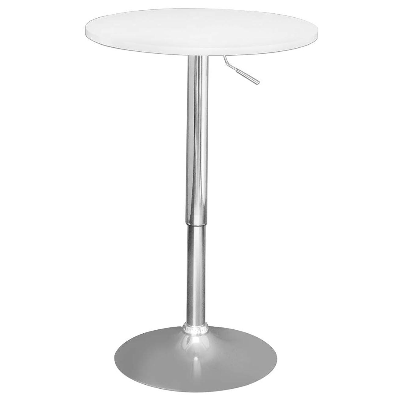 子音新年カプラーカフェテーブル 木製 丸型 バーテーブル BT-01 (ホワイト)