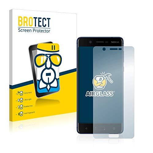 BROTECT Panzerglas Schutzfolie kompatibel mit Nokia 5-9H Extrem Kratzfest, Anti-Fingerprint, Ultra-Transparent