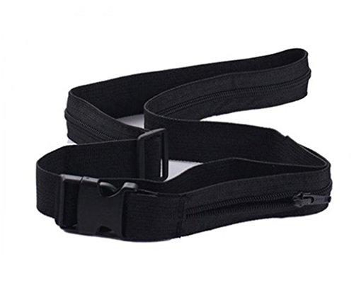 HCFKJ Reise-Diebstahl Brieftasche Gürtel mit Geheimfach Versteckt Stash Money Belt