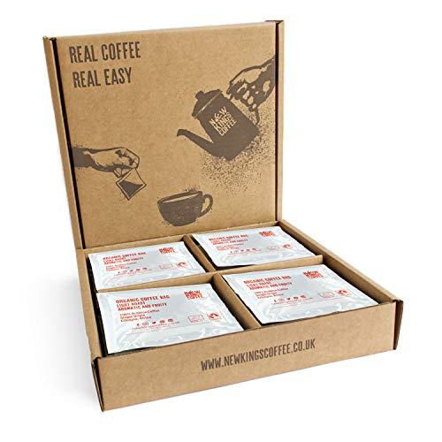 Sacchetto di caffè, caffè macinato fresco, singola origine, caffè equo e solidale, biologico, 100% arabica (Light Roast - Sidamo, Etiopia, Africa, Scatola di 16 buste di caffè confezionate singolar)