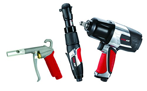EXELAIR by Milton EX0303KIT (3-Piece Professional Air Tool Kit) - Impact Wrench, Air Ratchet, and High-Flow Blow Gun