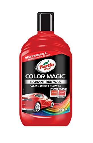 Turtle Wax FG6905 Light Red Color Magic Plus Colored Car Polish Cleans Shines Restores Scratches Includes Chipstick 500ml