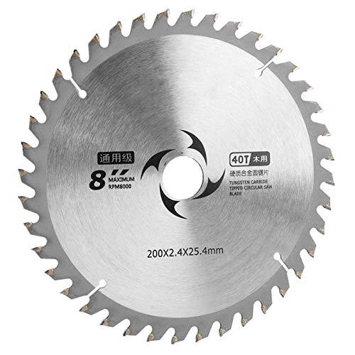 Hoja de sierra de carburo, herramienta de corte, hoja de sierra circular, 40T / 60T / 80T para sierras de mesa, sierras circulares, disco de corte de sierra(40T)