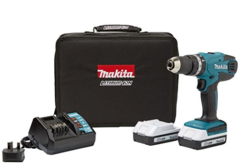 MAKITA G-SERIES CORDLESS 18V 1.5AH LI-ION COMBI DRILL 2 BATTERIES HP457DWEX2