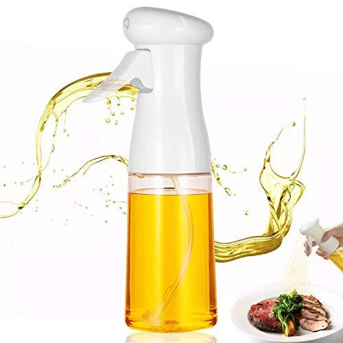 Akatsuki Dispenser di olio per cucina, spray per olio, 210 ml, dispenser di olio di oliva per cucinare, barbecue, arrostire, cuocere (bianco)