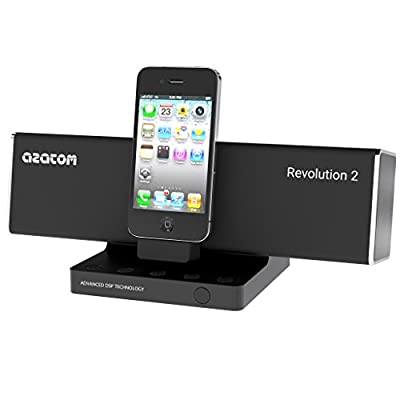 AZATOM® Revolution Docking station: Amazing sound - 40 Watts - latest DSP Technology - Digital Amplifier - Unique Design - Pivot Feature - Full Remote Control - The Revolution is quite simply the Best Sounding Docking Station at anywhere near the price! f