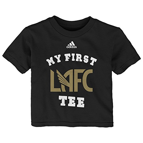 Outerstuff MLS LA Football Infant My First Short Sleeve Tee, 18 Months, Black