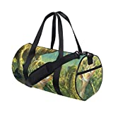 HARXISE Pesca Comer Gancho Mosca Safari,Bolsa de equipaje de viaje Deporte Lienzo ligero Equipaje de fitness Bolso de tambor Desmontable
