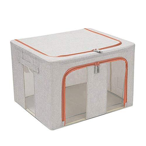YLKCU Storage box Fabric Storage Box King Wardrobe Foldable Baina box Moving Artifact Good Sealing a Breathable Healthy and Odorless (Color : Gray)