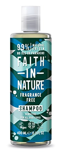 Faith in Nature shampoo, zonder geurstoffen.