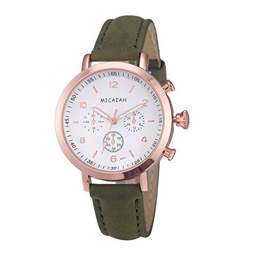 Neuer Trend Klassisch Armbanduhr Damen, Frauen Fashion Casual Ultradünn Uhren Analog Quarz mit Leder Armband Damenuhr Wrist Watch Watches LEEDY