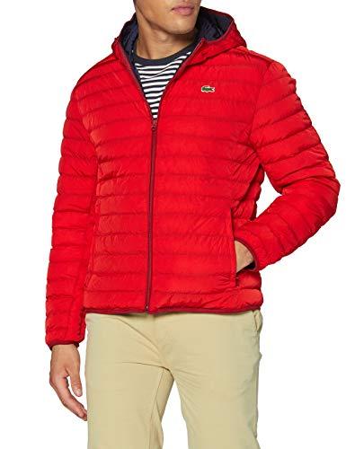 Lacoste Bh1930 Abrigo de vestir, Rojo, 48 para Hombre