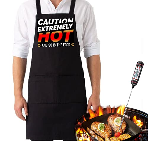 Grill Chef Funny Aprons for Women and Men, Apron,Grilling,Cooking, Kitchen, BBQ, Cook Gift (Extremely Hot)