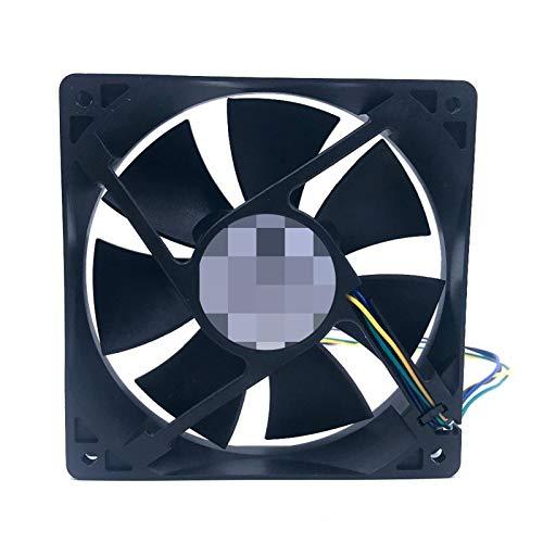 OLDJTK Ventilador de 120 mm 12025 12 * 12 * 2.5cm 120 * 120 * 25MM 12V 0.80A Ventilador de refrigeración