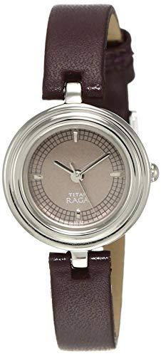 Titan Raga Reloj analógico marrón para mujer 2498SL02