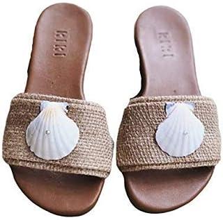 Kiki Boho   Seashell Sandals, sandalias artesanales de piel y yute hechas por artesanos mayas talla 4mx- 7us