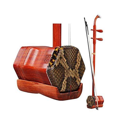Erhu, Anfängerleitfaden for Erwachsene, Palisander Erhu, African Palisander Musikinstrument, Nationalmusikinstrument (Farbe: Palisander) HUERDAIIT (Color : Rosewood)