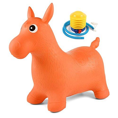 Jouets FEI Enfants gonflables Augmentation Epaississants Saut Chevaux Kindergarten bébé Sport Montures, équitation Début Éducation (Couleur : Orange)