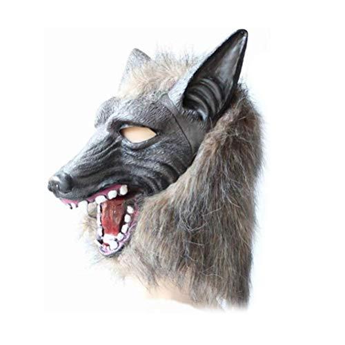 Toyvian Máscara de Halloween Wolf Mask Terror Devil Fancy Dress Party Props Cubierta de Wolf Head para Hombres y Mujeres