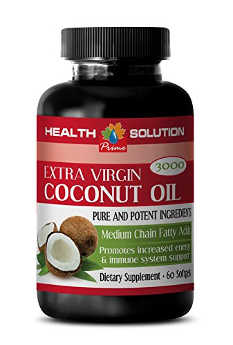 Brain Booster Memory - Extra Virgin Coconut Oil - Coconut Oil Pills for Weight Loss 3000mg - 1 Bottle 60 Softgels