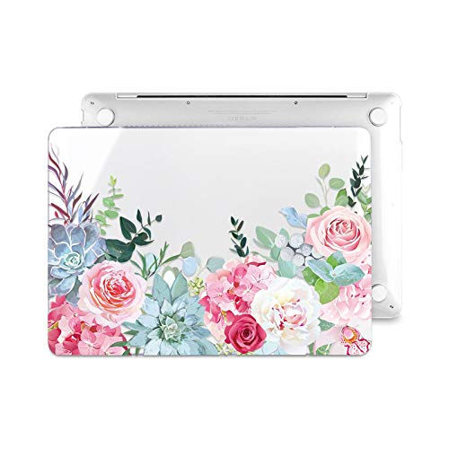 Floral Laptop Case for MacBook Air A2337 A2179 2020 Pro 13 16 Inch Touch Bar A2289 A2141 A2338 Plastic Hard Case Keybaord Skin-Z640-Model (A2159)
