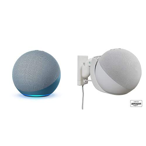"""Echo (4th Gen) bundle with""""Made for Amazon"""" Mount for Echo - Twilight Blue"""