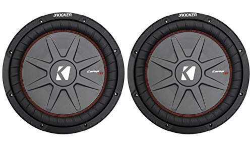 """(2) Kicker 43CWRT122 12"""" Subwoofers Totaling 2000 Watt With 2-Ohm DVC"""