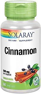 Solaray Cinnamon Bark 500 mg   Healthy Digestive Function & Healthy Blood Sugar Support   Antioxidant   60 VegCaps