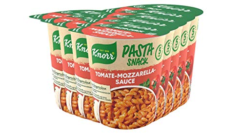 KnorrSnack Bar Nudeln in Tomate-Mozzarella-Sauce, 8er Pack (8 x 72 g)