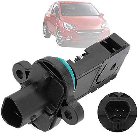 Sensor medidor de flujo de aire Medidor del caudal másico del sensor en forma for el Vauxhall for Cadillac ELR 2014-2015 for Chevrolet Volt 2011-2015 0280218254 0280218268 13301682 (Color : Black)
