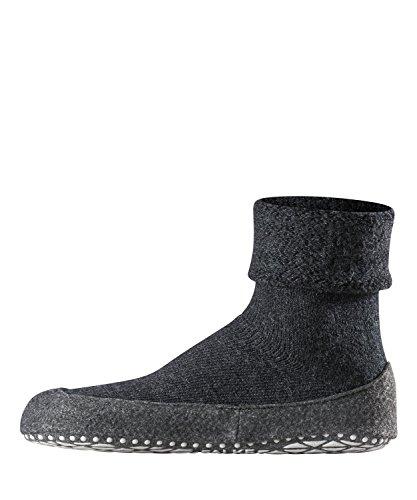 FALKE Herren Cosyshoe M HP Hausschuh-Socken, Blickdicht, Grau (Anthracite Melange 3080), 43-44