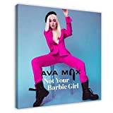 American Singer And Songwriter,Ava Max,Not Your Barbie Girl,Gift to Hang A Picture Canvas Poster Bedroom Decor Sports Landscape Office Room Decor Gift 12×12inch(30×30cm) Frame-style1