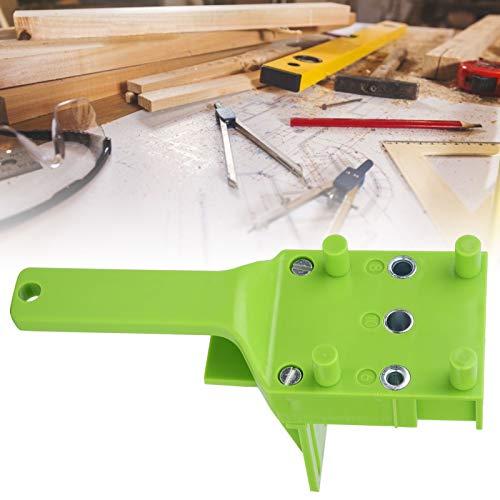 Guía de orificios, determinación rápida del orificio central Localizador de punzones de precisión a nivel milimétrico, para empalmes de espigas redondas para carpintería(green, blue)