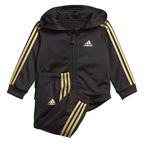 adidas Baby I Shiny FZ HD J Sportoutfit, Negro/Dormet, 86