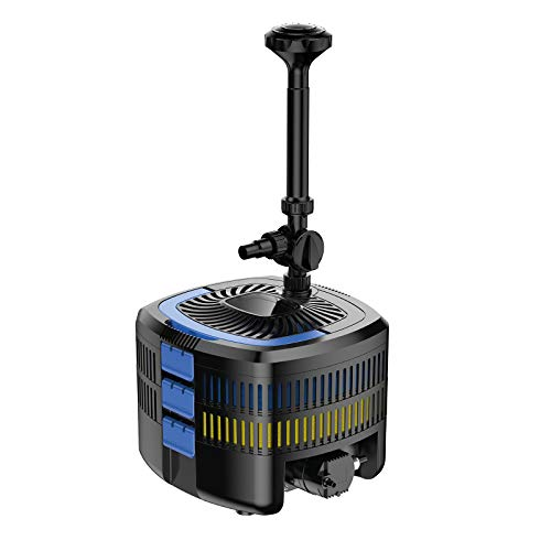 Mauk UV-C Kassetten Teichfilter System | Unterwasser Komplettset mit Pumpe & UV Lampe | Reinigung & Fontäne