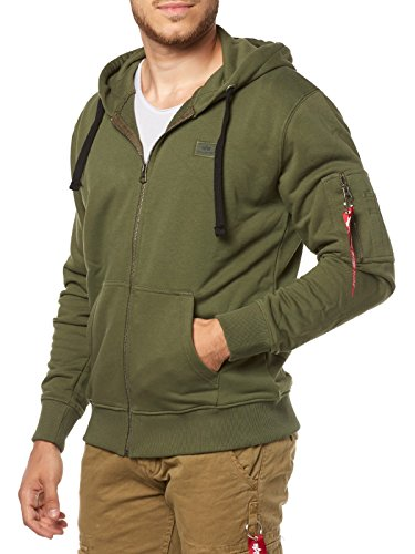 Alpha Industries X-Fit Zip Hoodie Oliv L