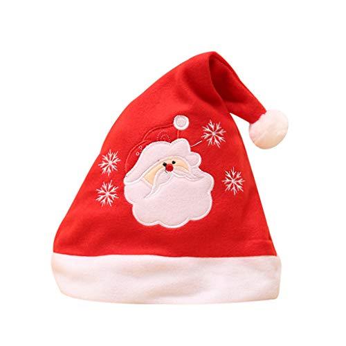 Trada Cappello Babbo Natale, Capelli Natale per Adulti e Bambini Capellino Babbo Natale Cappelli di Natale di Babbo Natale Regalo Unisex Caldo Caldo per la Festa di Babbo Natale Famiglia