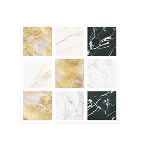 Leileixiao 20 pegatinas autoadhesivas para azulejos de PVC de 10 x 10 cm, removibles, impermeables, adhesivas, para pared, de cristal, F280 (color: 2, tamaño: 10 x 10 cm)
