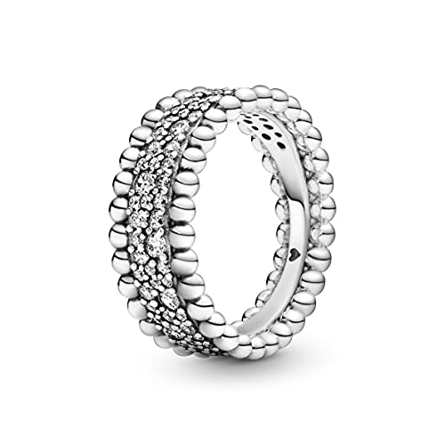 Pandora Women 925 Sterling Silver Silver Promise Plain Band Ring - 198676C01-54