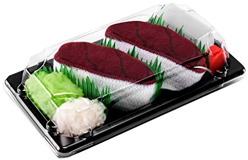 Rainbow Socks - Damen Herren - Sushi Socken Thunfisch - Lustige Geschenk - 1 Paar - Größen 41-46