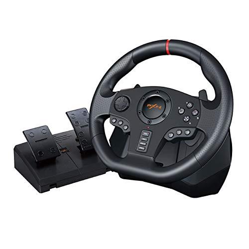 PXN-V900 レーシングホイール ハンドルコントローラー ステアリングコントローローラー ハンコン 900度【国...