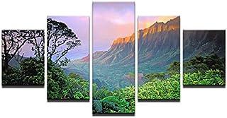 Gbwzz 5 Pièce Peinture sur Toile Mur Art Impressions sur Toile Posters Salon Décor 5 Pièces Forêt Montagnes Peintures Couc...