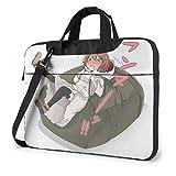 Anime Mädchen Lilliluka Erde Laptoptasche Laptop Menger Tasche, Laptop Umhängetaschen poliestere Menger Tragetasche Hülle con il supporto di 14 pollici
