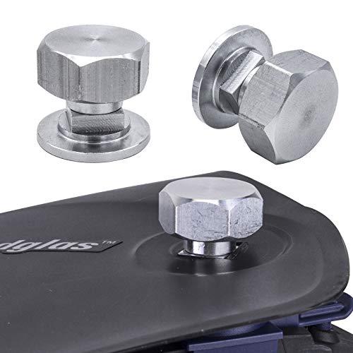 3mirrors Welding Hood (Pipeliner) Helmet Fasteners Headgear Replacement Parts Accessories Screws Flip Hood Aluminum - 1 Pair (Hex)