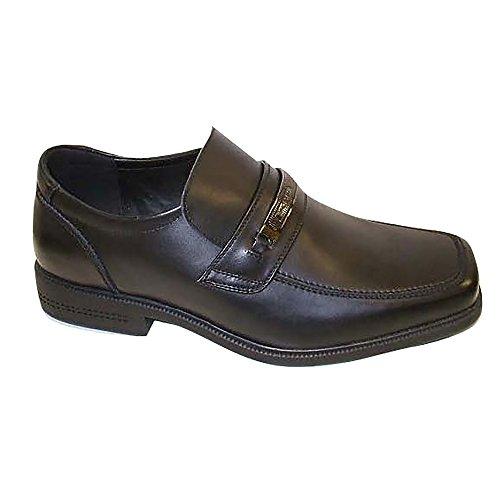 Macadam - Zapatos de Cuero Modelo Bournemouth para niños (38 EU) (Negro)