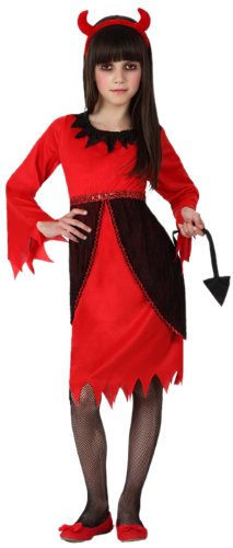 Atosa - 14953 - Costume - Déguisement - Diablesse - Fille - T-4